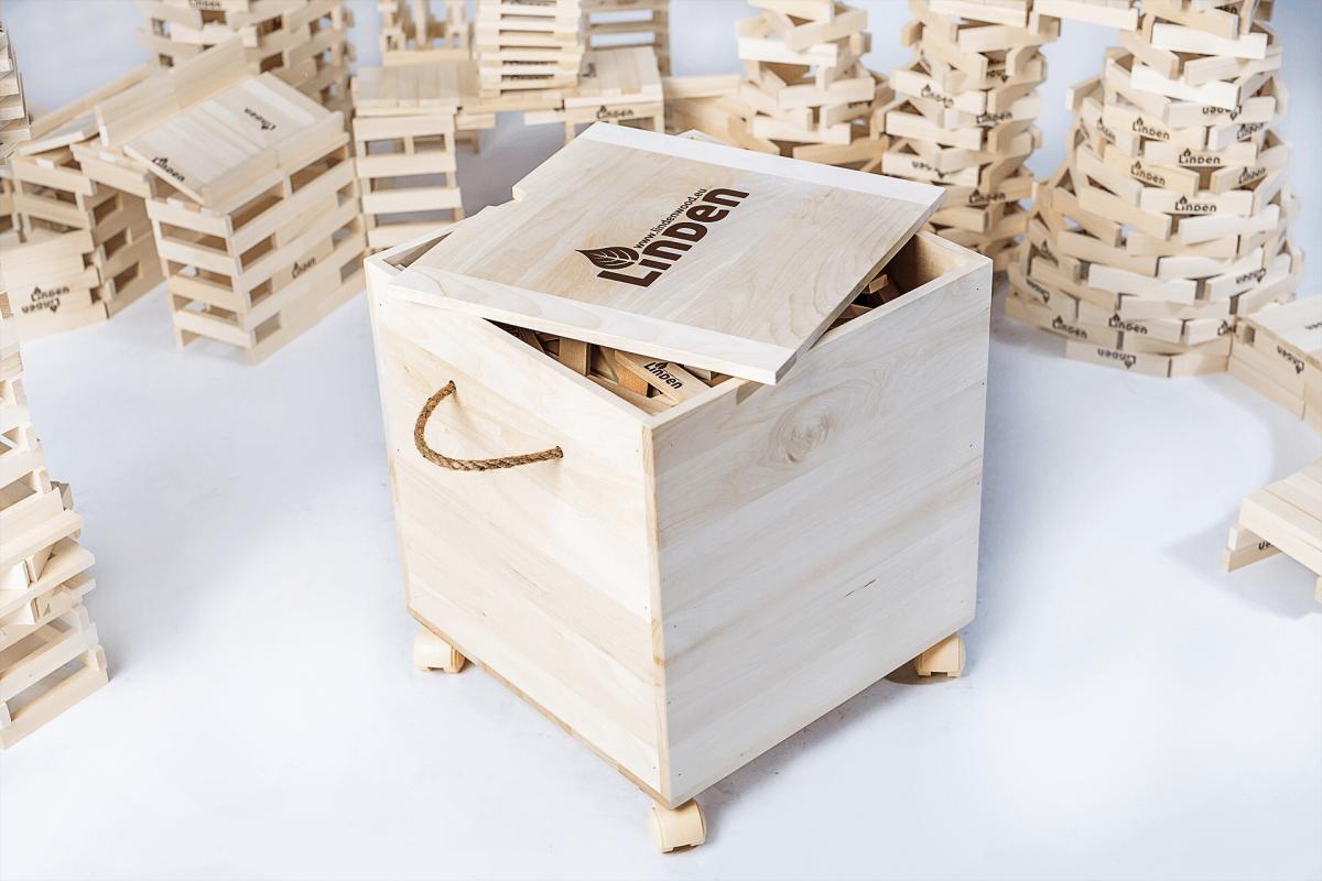 klocki drewniane Linden dzieci zabawa gra rozwój