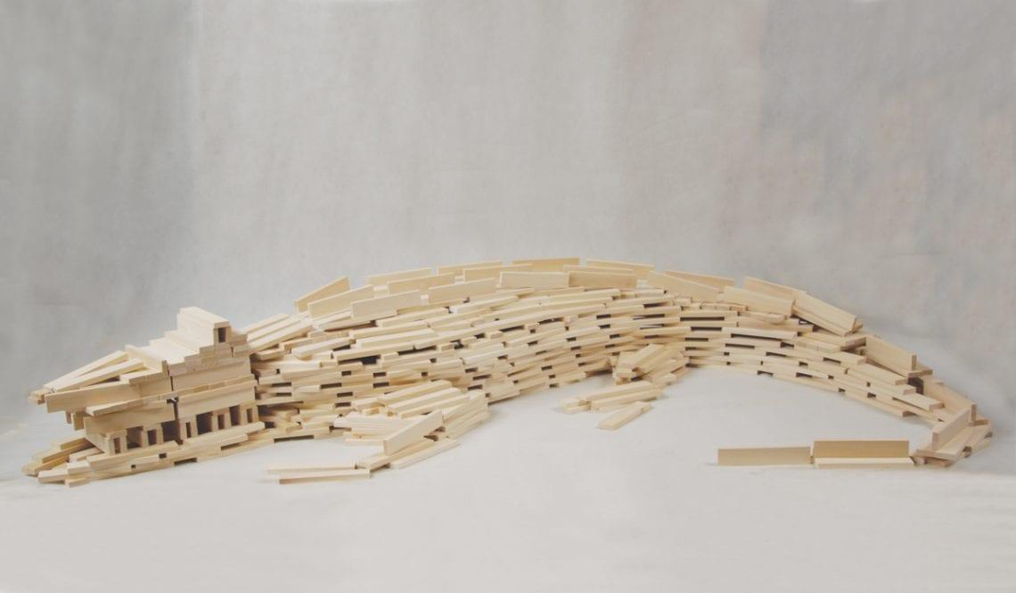 klocki drewniane - model aligatora