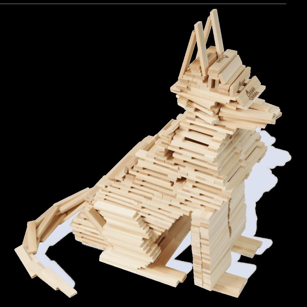 klocki drewniane - model psa