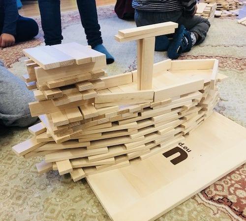 Łatwe w utrzymaniu duże drewniane klocki dla dzieci