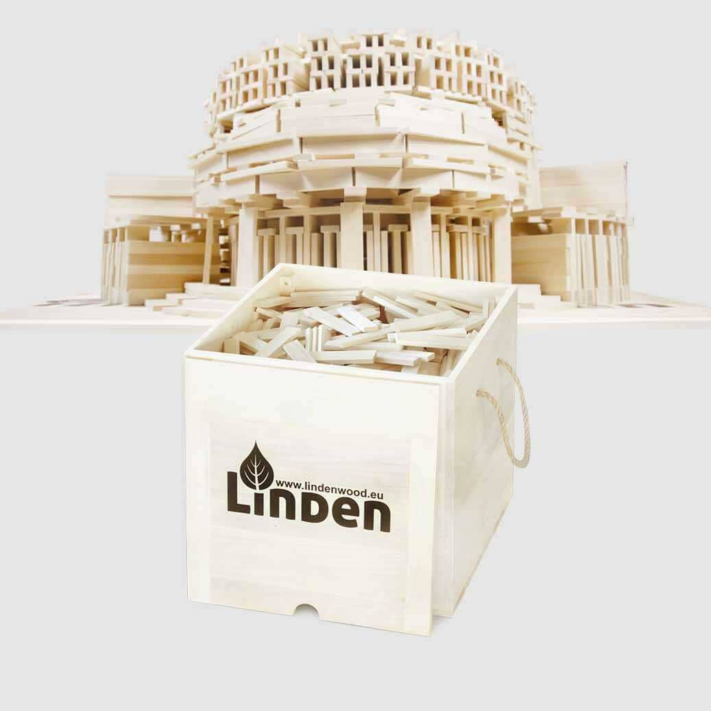 Klocki drewniane Linden 1000 szt. w skrzyni