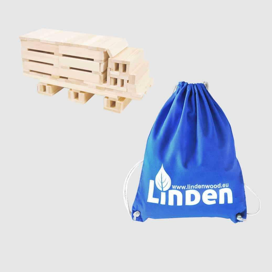 Klocki drewniane Linden 200 szt. eko worku