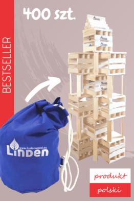 drewniane klocki linden 400 sztuk 262x393 - Zestaw 400 szt. klocków Linden w worku żeglarskim