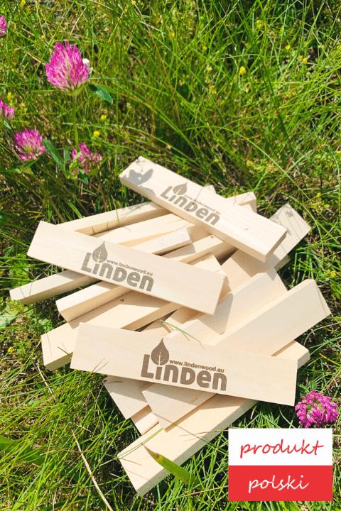 klocki linden drewniane zestaw 1000 sztuk - Zestaw 1000 szt. klocków Linden luzem
