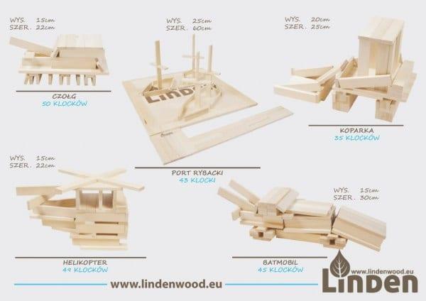 Laminowane inspiracje do budowania - port - czołg - koparka - batmobil - - Linden