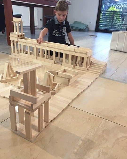klocki drewniane polskie handmade - Drewniane klocki less waste - inwestycja na lata