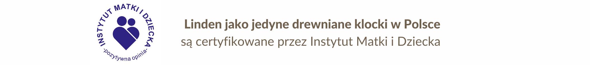 Linden jako jedyne drewniane klocki w Polsce są certyfikowane przez Instytut Matki i Dziecka (2)